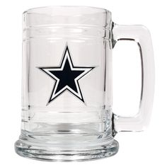 Any Dallas Cowboys armchair quarterback will enjoy celebrating his teams touchdowns with this Personalized Officially Licensed NFL emblem mug from AGiftBoutique.com.  A perfect gift idea for Father's Day to cheer on his favourite football team.  All NFL teams available.