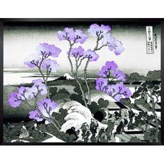 "Bloomsbury Market 'Mt. Fuji Through the Cherry Blossoms' by Katsushika Hokusai Framed Print Size: 18"" H x 24"" W"