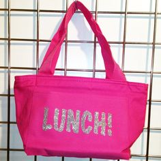 Glitter Lunch Insulated Lunch Bag (Hot Pink) - LikeWear