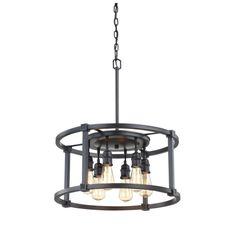 Fifth and Main Lighting 6-Light Aged Bronze Dinette Pendant-HD-1265 - The Home Depot