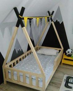 Boy Toddler Bedroom, Toddler Rooms, Baby Bedroom, Boy Room, Kids Bedroom, Bedroom Colour Schemes Warm, Tribal Bedroom, Baby Room Design, Childrens Beds