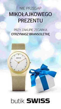 Nie przegap mikołajkowego prezentu od butiku SWISS PORT ŁÓDŹ .Przy zakupie zegarka otrzymasz bransoletkę.Dostępne do wyczerpania zapasów. Zapraszamy