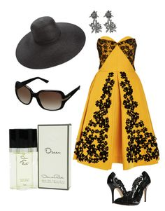 """""""Untitled #134"""" by clarks1522 ❤ liked on Polyvore featuring Oscar de la Renta, Eric Javits, women's clothing, women's fashion, women, female, woman, misses and juniors"""