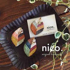 @ange_shop さんへお送りする作品* これで最後です。 こちらは葉っぱのブローチ。 ステッチの変化や色の組み合わせにもこだわり、ポイントにビーズを。 刺繍の魅力がギュッと詰まったブローチです♩ #handmade #刺繍 #刺繍ブローチ #ビーズ刺繍 #nico. Embroidery On Kurtis, Kurti Embroidery Design, Hand Embroidery Stitches, Bead Embroidery Jewelry, Fabric Jewelry, Beaded Embroidery, Okuda, Brooches Handmade, Bead Crochet