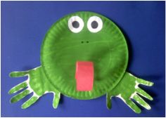 Hand Print Paper Plate Frog and so much more, with templates! #Printable #Preschool