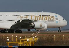 Emirates Airbus A380 800 (A6-EEB) at Manchester - International Airport