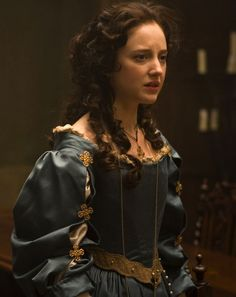 Andrea Riseborough as Angelica Fanshawe in The Devil's Whore (TV Mini-Series, Renaissance Era, Renaissance Dresses, Period Costumes, Movie Costumes, Rococo Fashion, Vintage Fashion, Tudor Fashion, Historical Costume, Historical Clothing