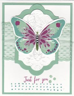 purchase supplies at www.sharikeller.stampinup.net - Watercolor Wings stamp and die cut set