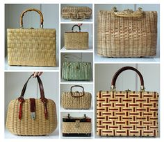 vintage straw purses - Google Search