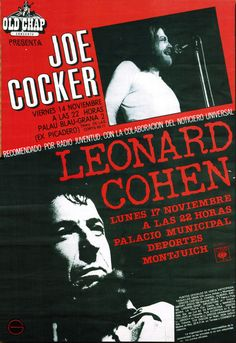 Bird on the Wire Lyrics and Video - Leonard Cohen. Rock Posters, Band Posters, Music Posters, Concert Posters, Joe Cocker, An Officer And A Gentleman, British Rock, Leonard Cohen, Rock Concert