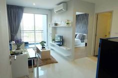 FOR RENT / CONDO NATUREZZA ART North Pattaya  - Floor : 4 - Building : D - 1 Bedroom, 1 Bathroom - Pool View - Size 29 Sq.m. - Fully furnished and ready to move in - Appliances: refrigerator, TV, bed, sofa, dining table. - Air 2 Price: 9,000 THB per month (1 year contract) **Deposit 2 months and advance rental 1 month = 27,000 THB Can move in** - Location : Naklua