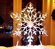 Monster block snowflake ice sculpture