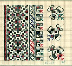 Embroidery samples, Vrlika, Croatia (former Yugoslavia), circa 1930-1937 :: Blanche Payne Regional Costume Photograph and Drawing Collection