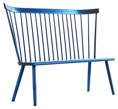 One Kings Lane - Out of Line - Lana Settee, Blue