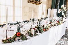 Since the Woburn Abbey wedding was taking place during the month of December, it was filled with such a cosy festive feel. Wedding Centrepieces, Wedding Table Decorations, Centerpieces, Woburn Abbey, Destination Weddings, Manchester, Ali, Wedding Photography, Sculpture