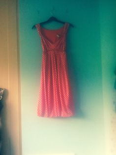 Red and white polka dot low cut swing dress by Makenzievelvet on Etsy Pretty vintage polka dot dress .. Love it