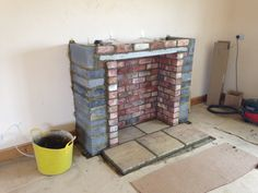 Building chimney breast ready for a stove! Colesforfires.co.uk