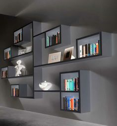 Bookshelf Room Divider, Wall Bookshelves, Shelves In Bedroom, Bookshelf Design, Wall Shelves Design, Bookcase White, Home Decor Furniture, Wood Furniture, Furniture Ideas