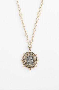 antique shield pendant