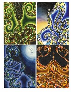 'The Sacred Elements of Earth, Air, Fire & Water' by Megan Welti.