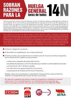 Sobran las razones para la Huelga General del #14N