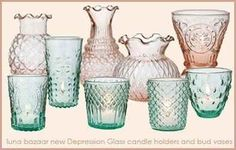 In fact, if you see any patterned translucent colored glass, you may have stumbled upon depression-era glassware.