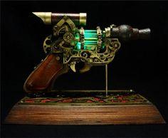 Glowing Steampunk Gun
