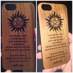 This item is unavailable Supernatural Anti Possession, Wooden Case, Soft Plastic, Etsy App, Good Grips, Iphone 6, Jewels, Gemstones, Jewerly
