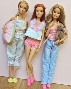 1,095 отметок «Нравится», 12 комментариев — Emily Polak (@emilypm3) в Instagram: «Another Vintage sleepwear pic!  Dolls: Tall Fashionista on M2M body, Fashionista on Barbie Style…»