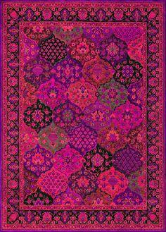 pink and purple rug