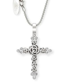 Signet Silver Pendant by Jenna Clifford. Mastercrafted in argentium silver Jenna Clifford, Silverware Jewelry, Silver Roses, Cross Pendant, Jewelery, Jewelry Design, Pendants, Sterling Silver, Chain