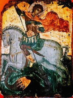 St  George, Greek 17th century. ex.Korban collection Orthodox Icons, 17th Century, Saints, Greek, World, Painting, Collection, Art, Art Background