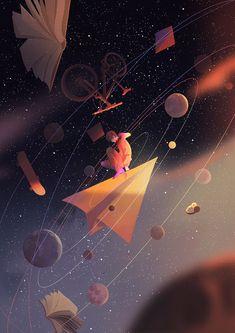 Illustrations Discover The Art Of Animation Art And Illustration, Illustration Inspiration, Anime Scenery Wallpaper, Galaxy Wallpaper, Orange Wallpaper, Aesthetic Art, Aesthetic Anime, Aesthetic Videos, Art Mignon