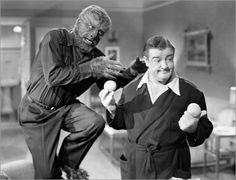 Abbott & Costello Meet Frankenstein (1948) Lon Chaney Jr. and Lou Costello…