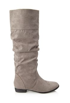 Knee-High Faux Suede Boots | FOREVER 21 - 2000066808 Need these boots!!