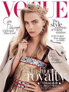 """Cara Delevingne Crowned Miss Cool"" like anyone is surprised?  -Vogue Australia's October 2013 Cover"