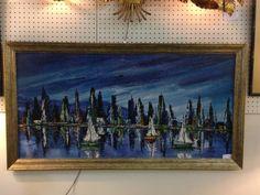 Serene Sailboat Artwork with Nice Frame - $85