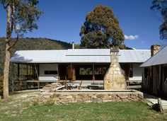 CplusC - Sydney Architects and Builders. St Albans Rural Retreat. Zinc cladding, sandstone and steel. Durable materials for the Australian Climate. #sydney #architects #country homes