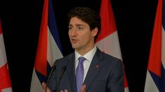 """Canadian Prime Minister Justin Trudeau says he seeks """"constructive"""" NAFTA negotiations with U.S. President-elect Donald Trump, and will only respond to concrete trade policies rather than theoretical ones.  Rough Cut (no reporter..."""