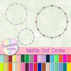 Instantly download these free dot circle deign elements. Use them in your digital scrapbooking, digital planner, card making and more. The set includes one paper in 36 colours.