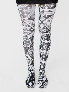 ANNTIAN Handprinted Tights « Pour Porter
