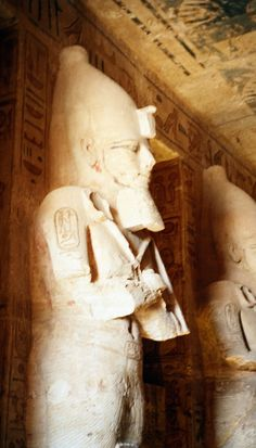 Detalle interior templo de Abu simbel  Egypt