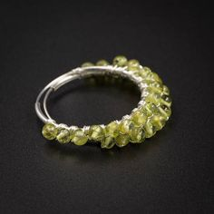 Natural Peridot earrings Peridot and sterling silver handmade