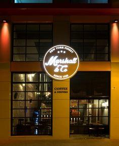 MARSHALL&CO Coffee&Drinks  #interiorismo #diseñodeinteriores #branding  #fachada