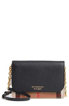 9cd820521052 Burberry Hampshire House Check & Leather Wallet on a Chain | Nordstrom.  Hampshire HouseLeather BagLeather WalletClutch WalletMichael Kors Jet  SetWallets ...