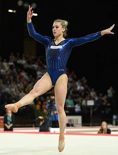 Switzerland's Giulia Steingruber competes in the floor exercise event at the European Women's Artistic Gymnastics Individual Championships on April. Gymnastics Facts, Gymnastics Images, Artistic Gymnastics, Olympic Gymnastics, Gymnastics Girls, Poses Gimnásticas, Yoga Dress, Gym Clothes Women, Female Gymnast