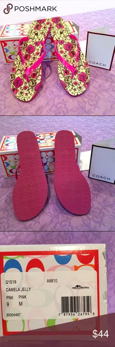 🌺Spring🌸Coach flops 🎀 New in box Coach Shoes Sandals