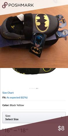 DC Comics Batman Logo A-Line Slippers Brand new in package DC COMICS Shoes Slippers