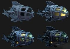 ArtStation - Atlantis Submarine Pod, Allex Spark Atlantis The Lost Empire, Steampunk Gun, Greek Mythology Art, Retro Rocket, Underwater City, Spaceship Art, Treasure Planet, Techno, Found Object Art
