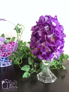 Flower Easter Egg Topiary with Video